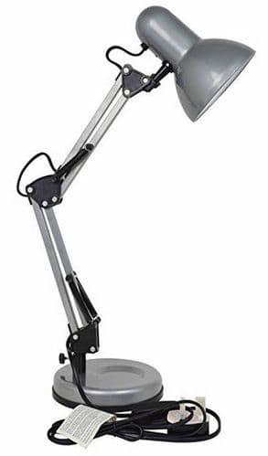 STATUS Valencia Angled Desk Lamp Silver