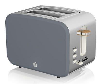 SWAN 2 Slice Nordic Toaster Grey ST14610GRYN