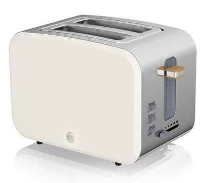 SWAN 2 Slice Nordic Toaster White ST14610WHTN