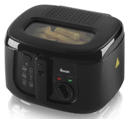 SWAN 2.5L Square Deep Fat Fryer Black SD6080BLKN