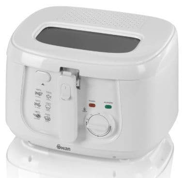 SWAN 2.5L Square Deep Fat Fryer White SD6080N