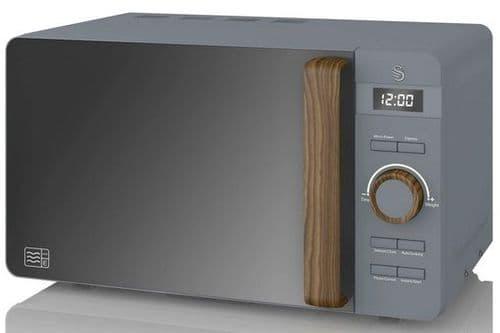 SWAN 20L Nordic Digital Microwave Grey SM22036GRYN