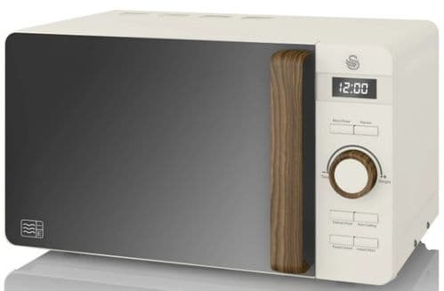 SWAN 20L Nordic Digital Microwave White SM22036WHTN