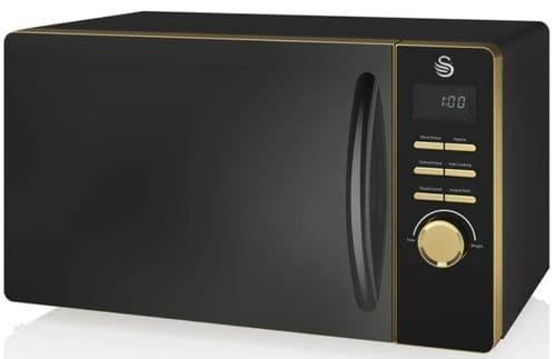 SWAN 23L 800w Gatsby Digital Microwave Black SM22045BLKN