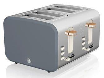 SWAN 4 Slice Nordic Toaster Grey ST14620GRYN