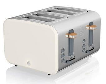 SWAN 4 Slice Nordic Toaster White ST14620WHTN