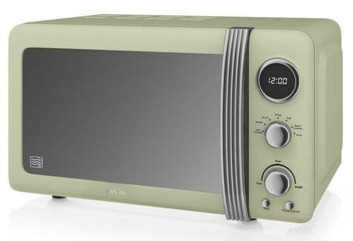 SWAN 800w Retro Digital Microwave Green SM22030GN
