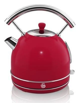 SWAN Retro 1.7 Litre Dome Kettle Red SK34020RN