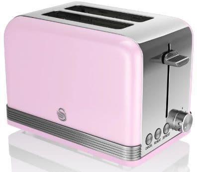 SWAN Retro 2 Slice Toaster Pink ST19010PN