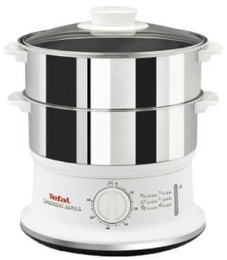 TEFAL 2 Tier Food Steamer Stainless Steel VC145140