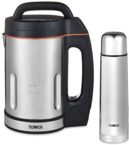 TOWER 1.6L Soup Maker with St. Steel Blade including 500ml Flask T12055