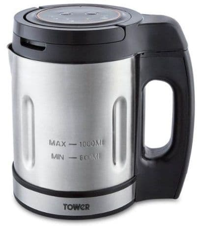 TOWER 1L Compact Soup Maker with St. Steel Blade T12056