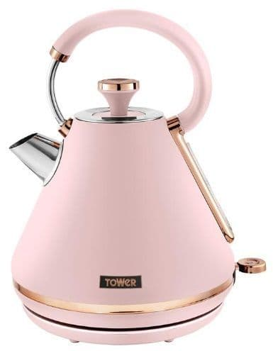 TOWER Cavaletto 1.7l Pyramid Kettle Pink and Rose Gold T10044PNK