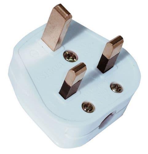 Universal 13A 3-Pin Plug White