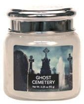 VILLAGE CANDLE Petite 3.75oz Candle Jar Ghost Cemetery