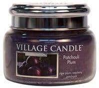 VILLAGE CANDLE Small 11oz Candle Jar Patchouli Plum
