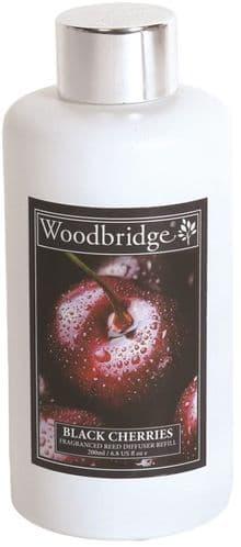 WOODBRIDGE Reed Diffuser Liquid Refill Bottle - Black Cherries 200ml
