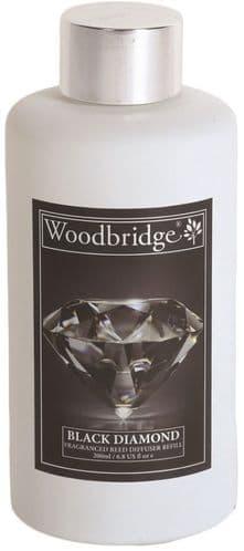 WOODBRIDGE Reed Diffuser Liquid Refill Bottle - Black Diamond 200ml