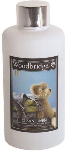 WOODBRIDGE Reed Diffuser Liquid Refill Bottle - Clean Linen 200ml