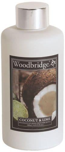 WOODBRIDGE Reed Diffuser Liquid Refill Bottle - Coconut & Lime 200ml