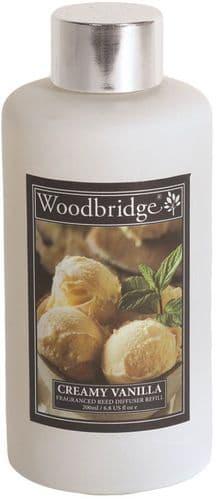 WOODBRIDGE Reed Diffuser Liquid Refill Bottle - Creamy Vanilla 200ml