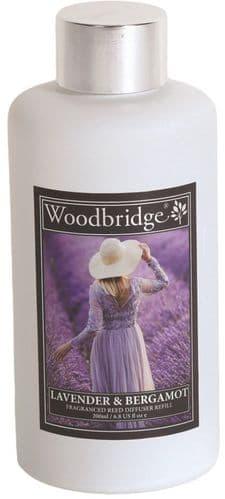 WOODBRIDGE Reed Diffuser Liquid Refill Bottle - Lavender & Bergamot 200ml