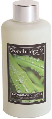 WOODBRIDGE Reed Diffuser Liquid Refill Bottle - Lemongrass & Ginger 200ml