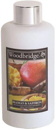 WOODBRIDGE Reed Diffuser Liquid Refill Bottle - Mango & Saffron 200ml