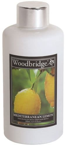 WOODBRIDGE Reed Diffuser Liquid Refill Bottle - Mediterranean Lemon 200ml