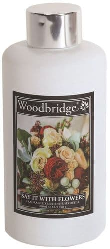 WOODBRIDGE Reed Diffuser Liquid Refill Bottle - Say It With Flowers 200ml