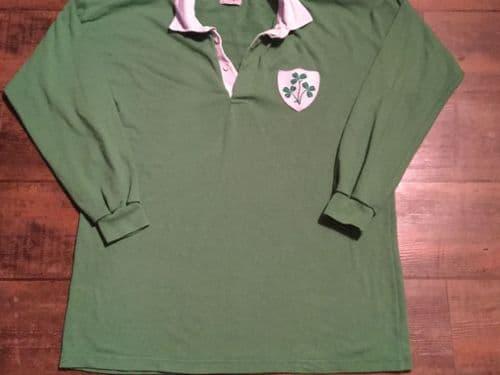 1980's Ireland Rugby Union L/s Shirt Adults XXL 2XL