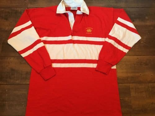 1980s Plymouth Combined Services RFC Royal Navy  Rugby Union Shirt Large