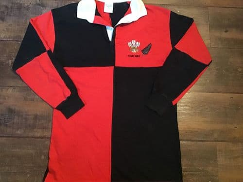 1989 Wales New Zealand L/s Rugby Union Shirt Small