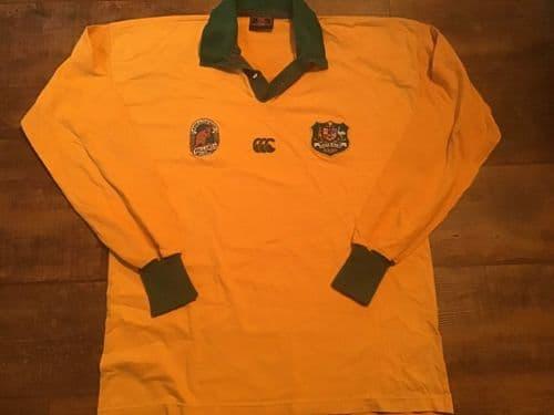 1990 1991 Australia L/s Rugby Union Shirt Large