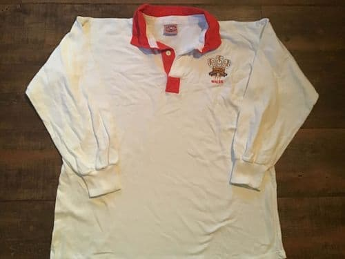 1992 1993 Wales L/s Rugby Away Shirt Large
