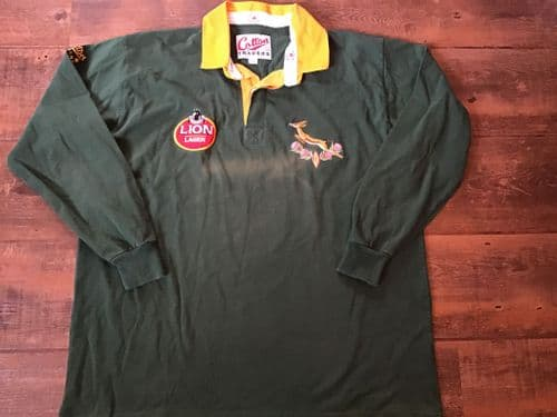 1992 1995 South Africa L/s Rugby Union Shirt XL