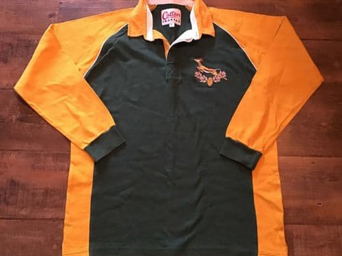 1992 1995 South Africa L/s Rugby Union Training Shirt Large
