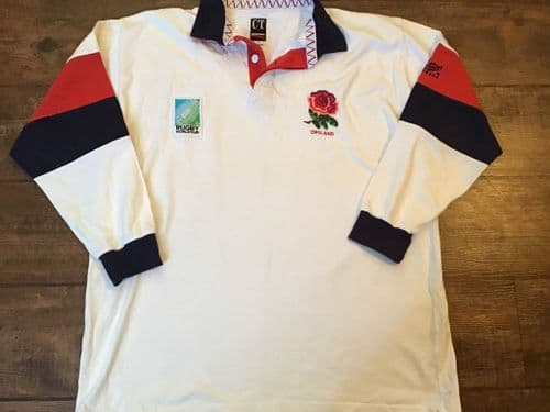 1995 England World Cup Rugby Union Home Shirt XL