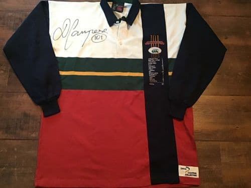 1996 Australia David Campese 101 Test Matches Signed Rugby Shirt Large