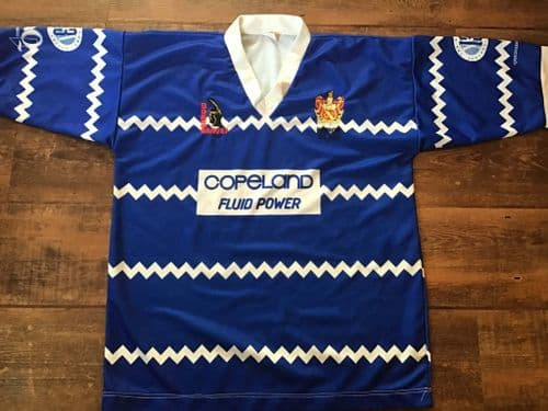 1996 Barrow Braves Rugby League Shirt Large
