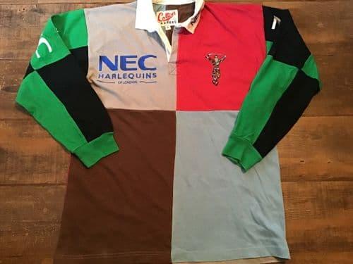 1997 1998 Harlequins L/s Rugby Shirt Large