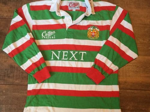 1997 1999 Leicester Tigers L/s Rugby Union Shirt Small