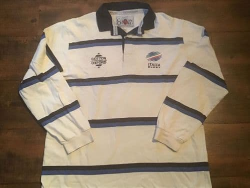 1998 1999 Italy L/s Rugby Union Away Shirt Large
