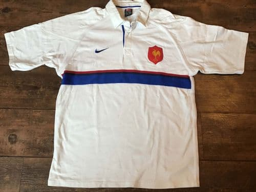 1999 2000 France Away Player Issue Rugby Union Shirt Large