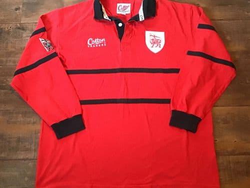 1999 2000 London Welsh L/s Rugby Union Shirt XL 2XL