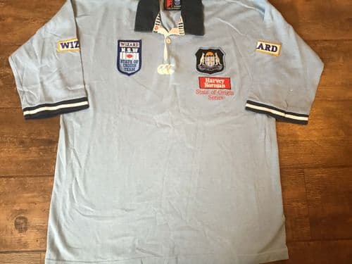 1999 2000 New South Wales Blues State of Origin Rugby League Shirt Large XL