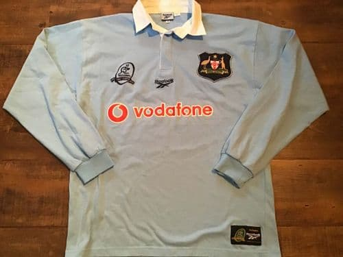 1999 Australia Centenary L/s Rugby Union Away Shirt Medium