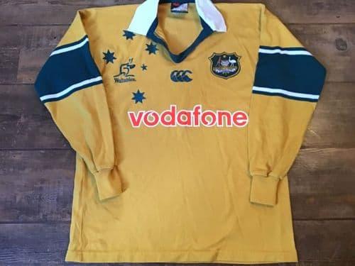 2000 2002 Australia L/s Rugby Shirt Medium