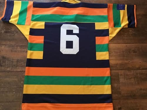 2000s Gold Coast Breakers No 6 Match worn Rugby Union Shirt Large