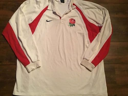2001 2002 England Player Issue Rugby Union Home Shirt 3XL